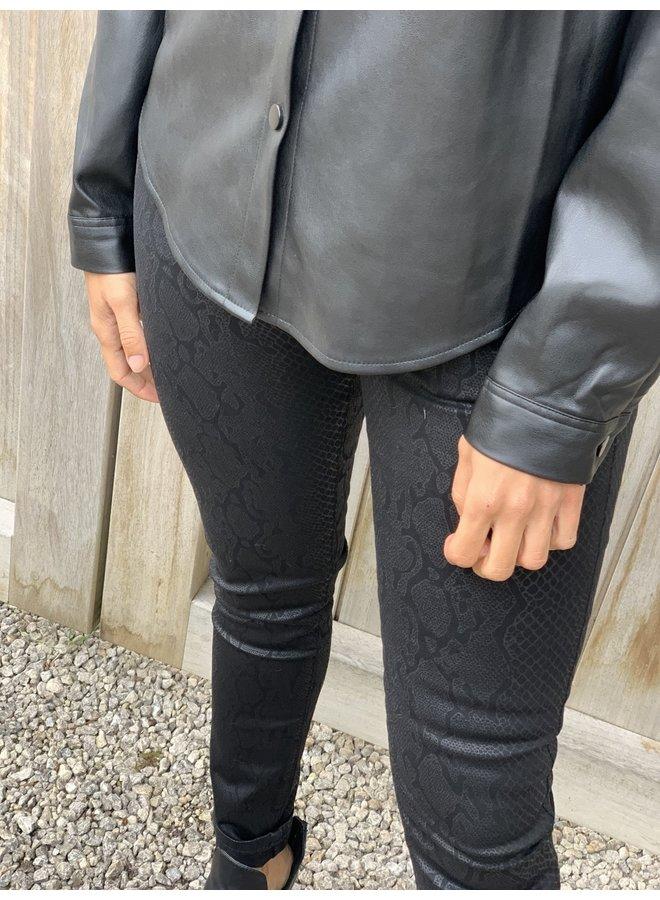 Snake printed pants