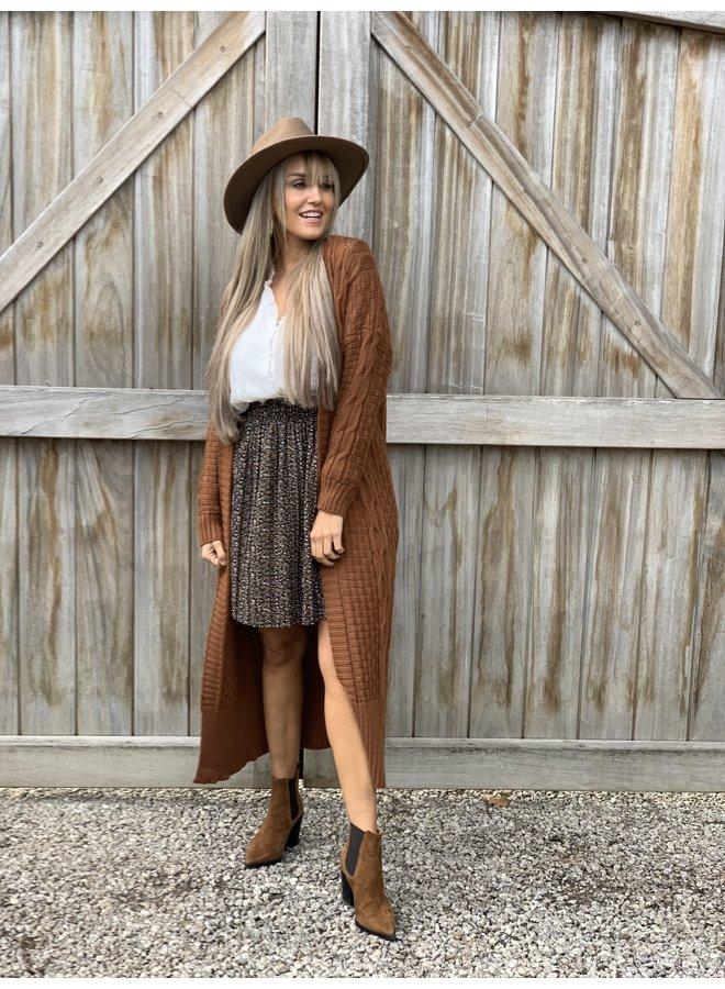 Long gilet Sarah Camel