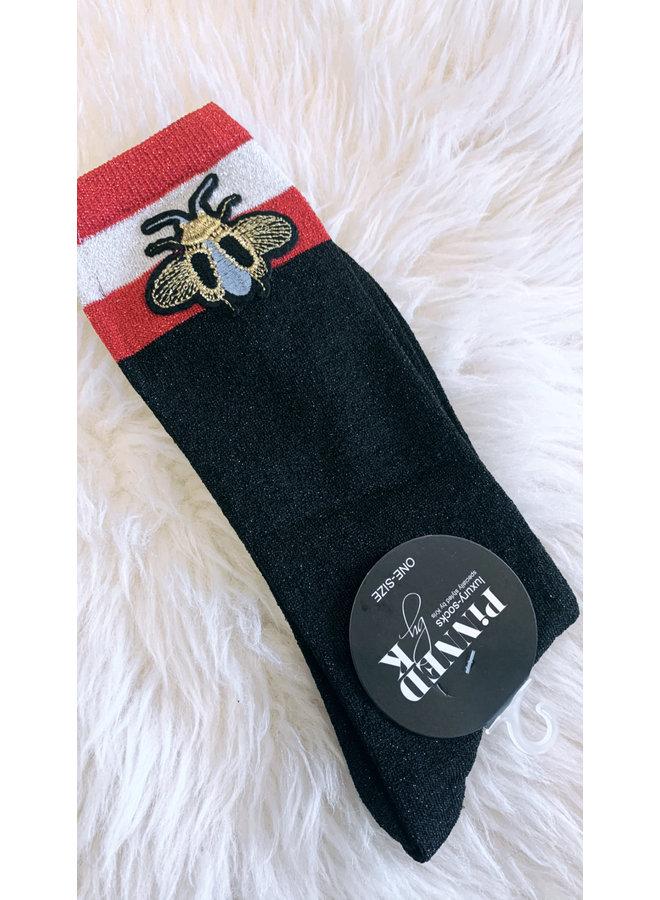 Gucci glitter bee socks