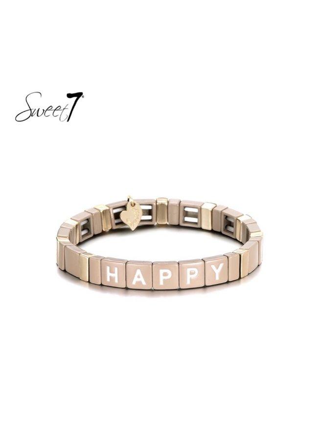 Bracelet happy taupe