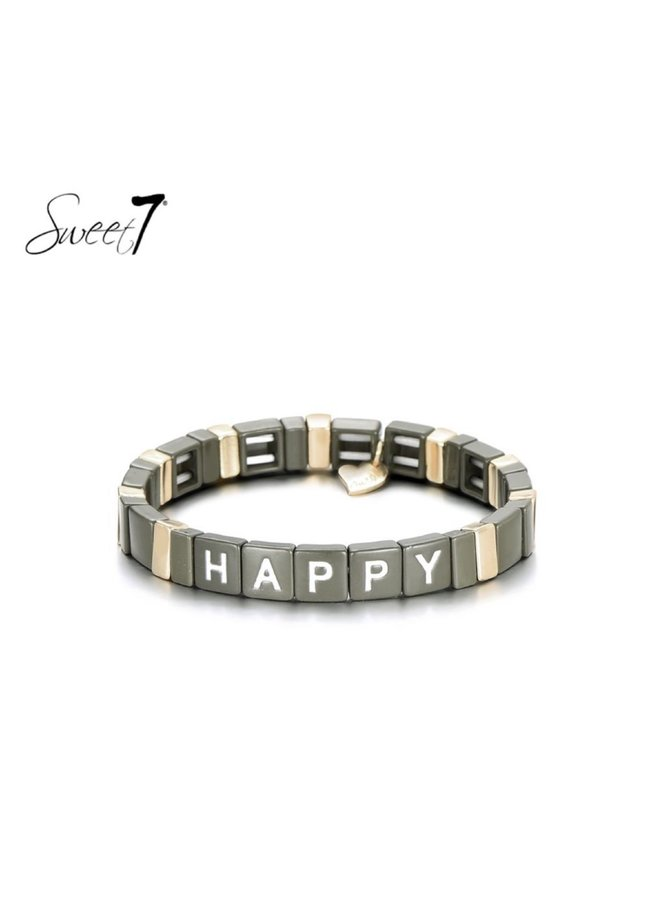 Bracelet happy kaki