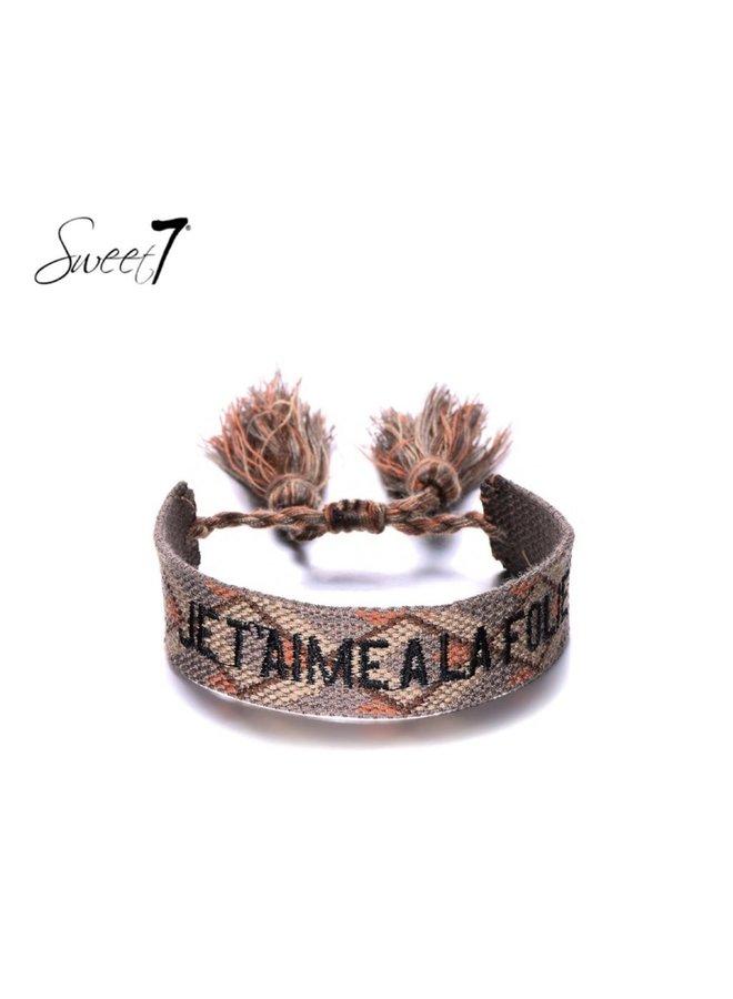 Bracelet Je t'aime la folie taupe