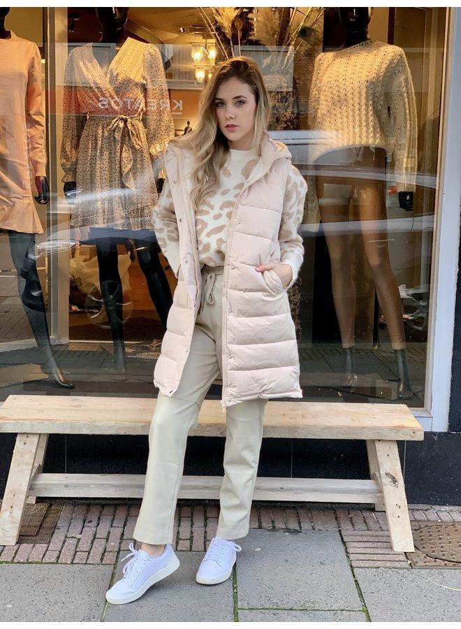 Hooded puffer vest coat/vest Noëmi