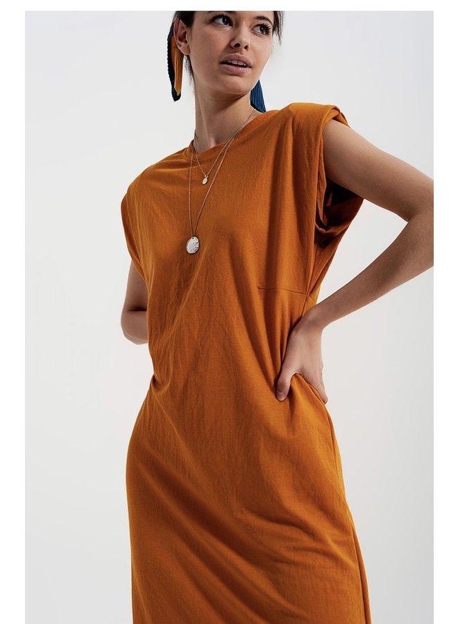 Midaxi Dress Orange