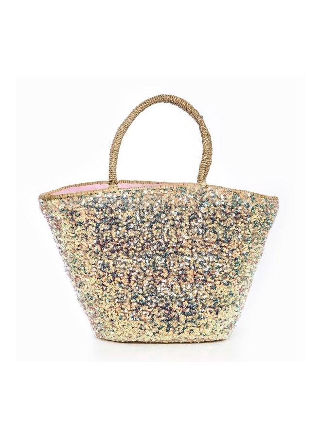 Beach bag/shopper Simone gold