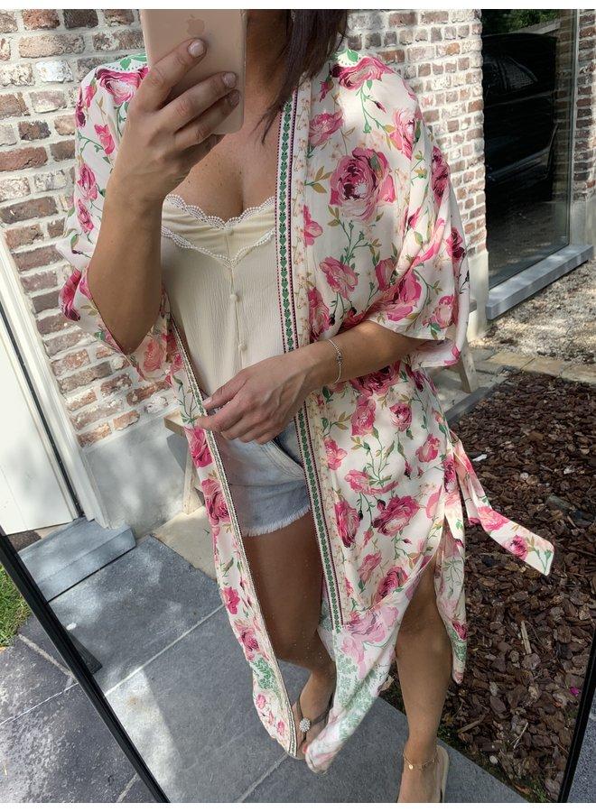 Kimono Estelle fusia