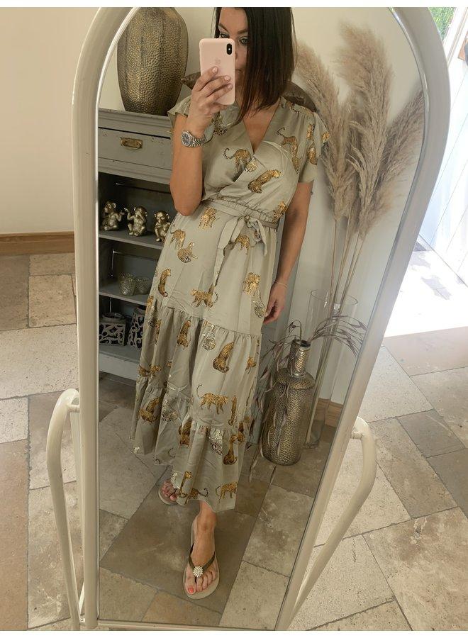 Dress Leonie kaki