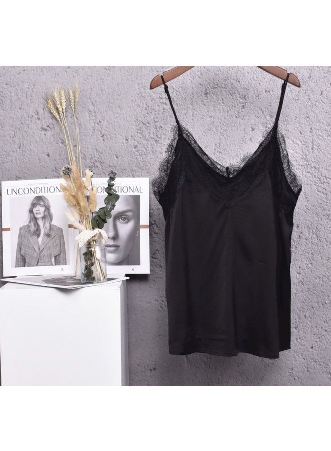 Lace top Nora black