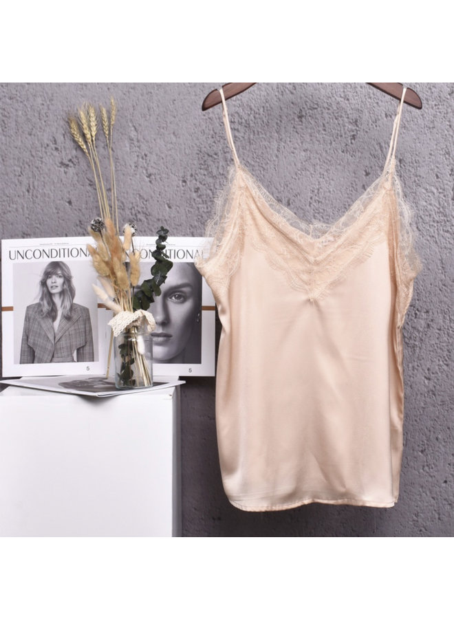 Lace top nora beige