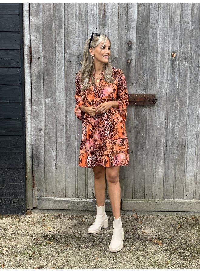 Dress Noémie  Orange/pink