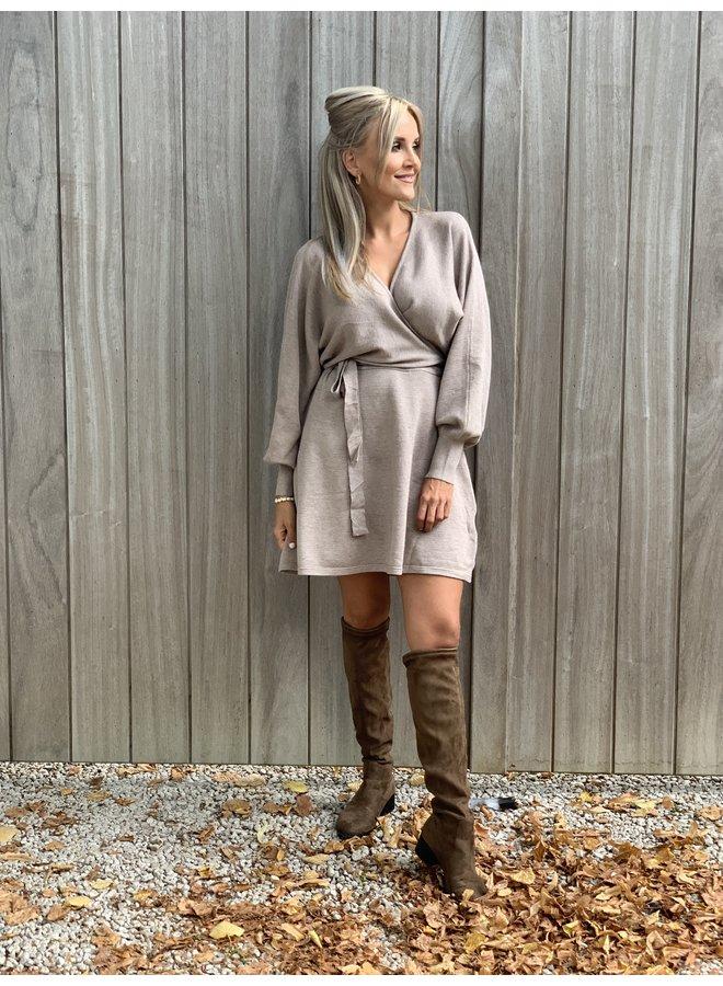 Dress Sasha taupe