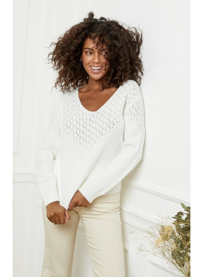 Sweater Louise off white