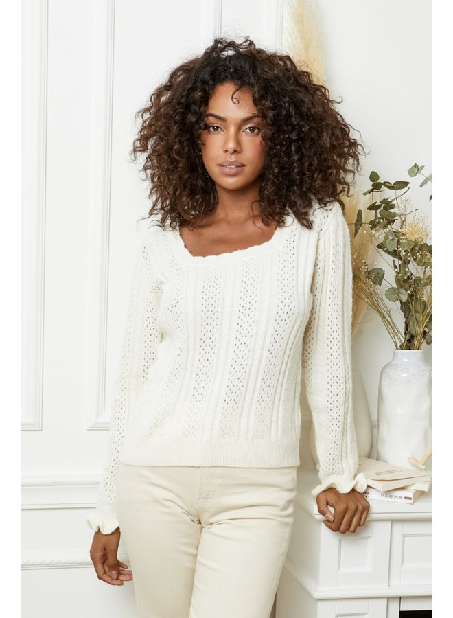Sweater Elly white