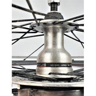 Shimano voorwiel met roller brake zwarte spaken