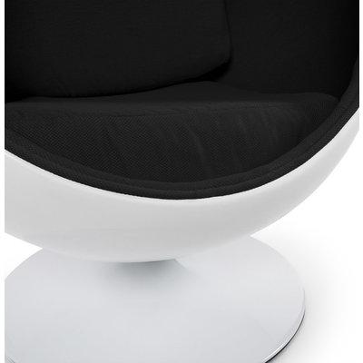Kokoon Design Stoel UOVO Wit-Zwart