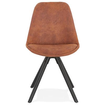 Kokoon Design Stoel CHARLIE Bruin-Zwart