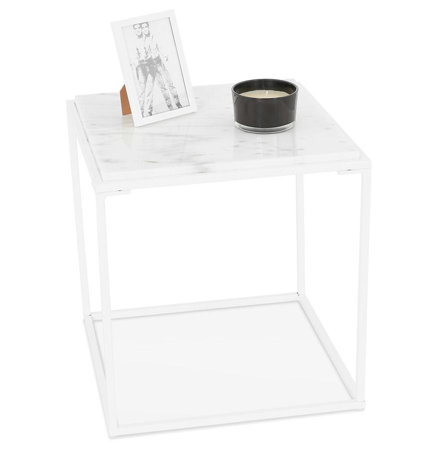 Eettafel Wit Design.Design Lage Tafel Marmora Mini Wit
