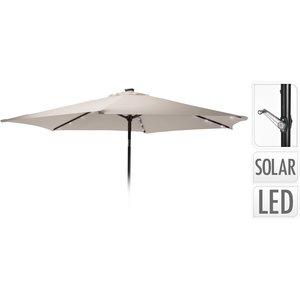 Ambiance Parasol met verlichting - 270cm - taupe