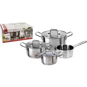 Excellent Houseware Pannenset Platinum RVS - 4-delig