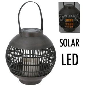 Home & Styling Solar lantaarn LED 23 cm - basket