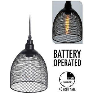 Home & Styling Hanglamp - draad - met timer - bolvorm
