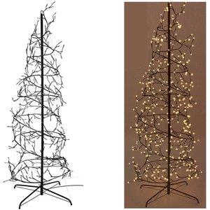 Home&Style Decoration Kerstboom spiraal 150cm - 360 LED - zwart