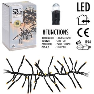 Clusterverlichting - 576 LED - 4m - extra warm wit
