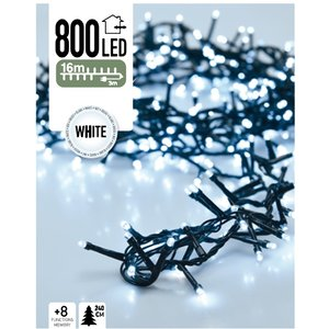 DecorativeLighting Micro Cluster 800 LED's 16 meter wit