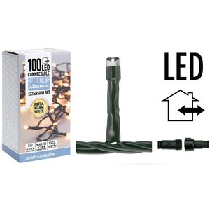 DecorativeLighting Koppelbare Kerstverlichting - 100 LED - 7.5m - extra warm wit