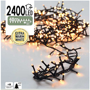 DecorativeLighting Micro Cluster 2400 LED's 48 meter extra warm wit