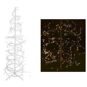 Home@Style Decoration Kerstboom spiraal 150cm - 360 LED - wit