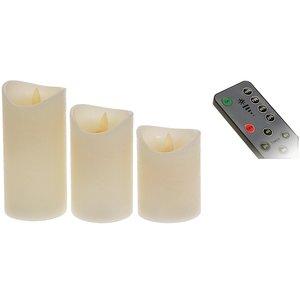 LED-kaarsen - 3 stuks - met bewegende vlam, timer, dimmer en afstandsbediening