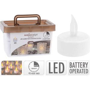 Ambiance light Theelichtjes met timer - LED - 24 stuks