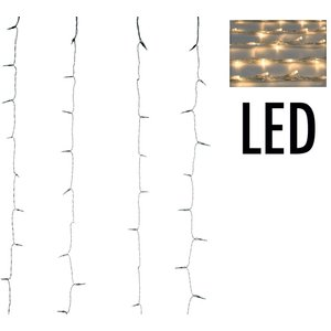 Gordijnverlichting met watervaleffect - 320LED - 100x200cm - warm wit
