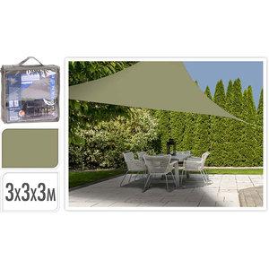 Ambiance Schaduwdoek driehoek 3x3x3m - olijfgroen