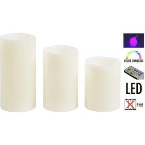LED kaarsenset met afstandsbediening