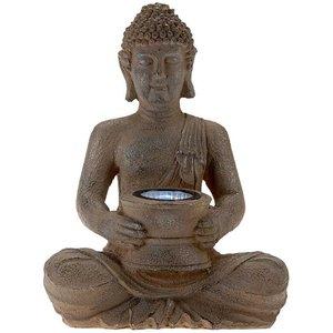Boeddha 28cm met solarlamp