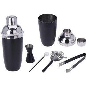 Excellent Houseware Cocktailshakerset - 5 delig - mat zwart