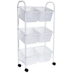Bathroom Solutions Badkamer trolley met 6 manden