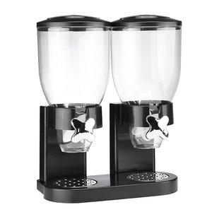 Haushalt International Muesli dispenser - dubbel - zwart