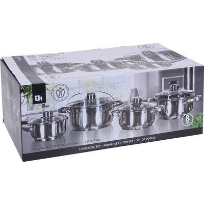 Excellent Houseware Pannenset - 8-delig - RVS