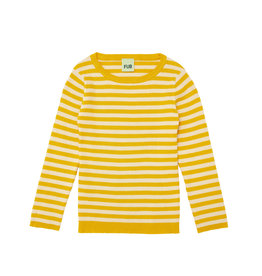 FUB Rib Striped Blouse ecru/yellow