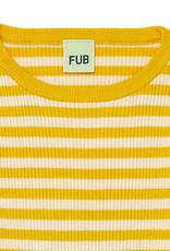 FUB Rib Striped Blouse ecru/yellow