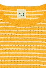 FUB T-shirt Pointelle ecru/yellow