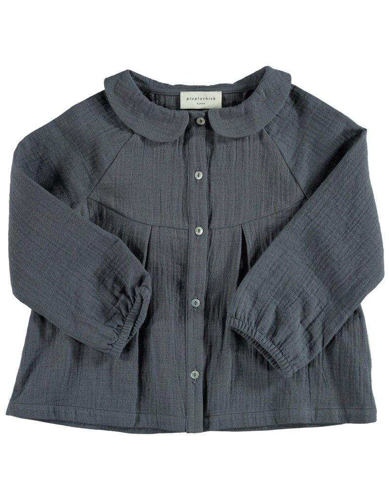 Piupiuchick Peter Pan collar blouse Anthracite kid