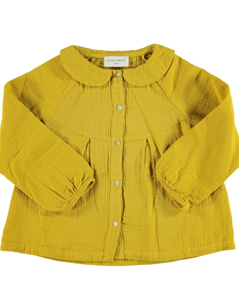 Piupiuchick Peter Pan collar blouse Mustard Baby