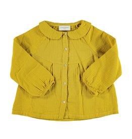 Piupiuchick Peter Pan collar blouse Mustard Kid