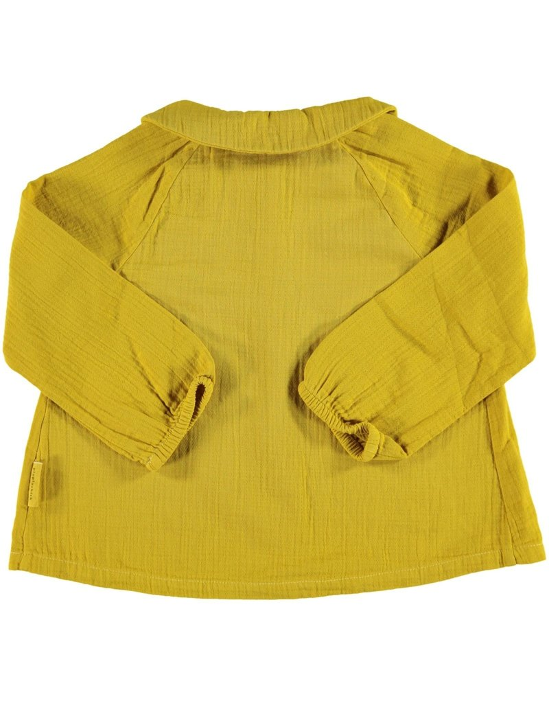 Piupiuchick Peter Pan collar blouse Mustard Kid