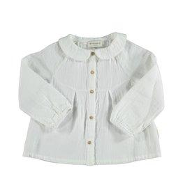 Piupiuchick Peter Pan collar blouse Ecru baby