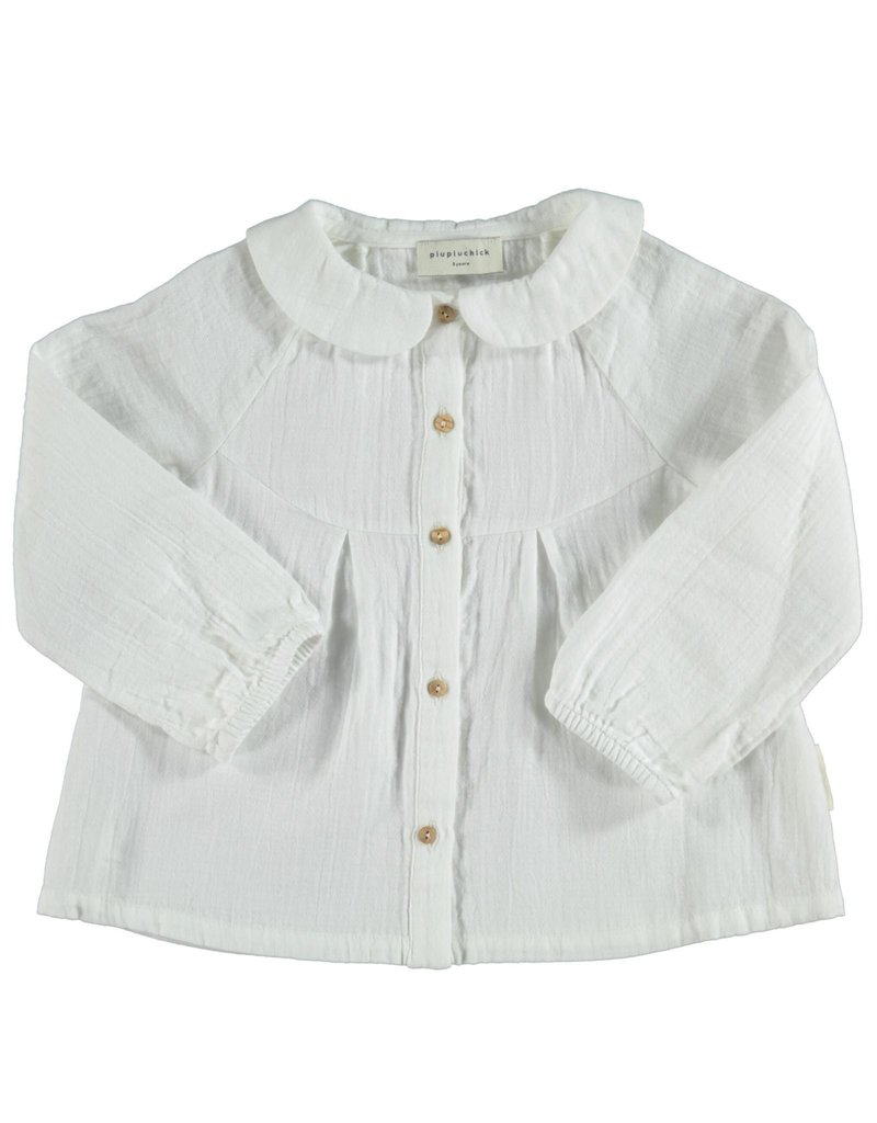 Piupiuchick Peter Pan collar blouse Ecru Kid